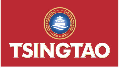 Tsingtao Colour Logo On Red